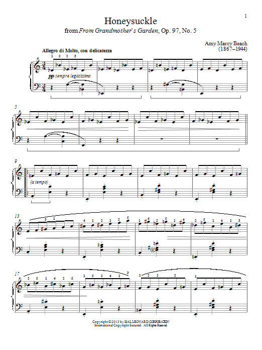 Gail Smith Honeysuckle sheet music notes and chords. Download Printable PDF.