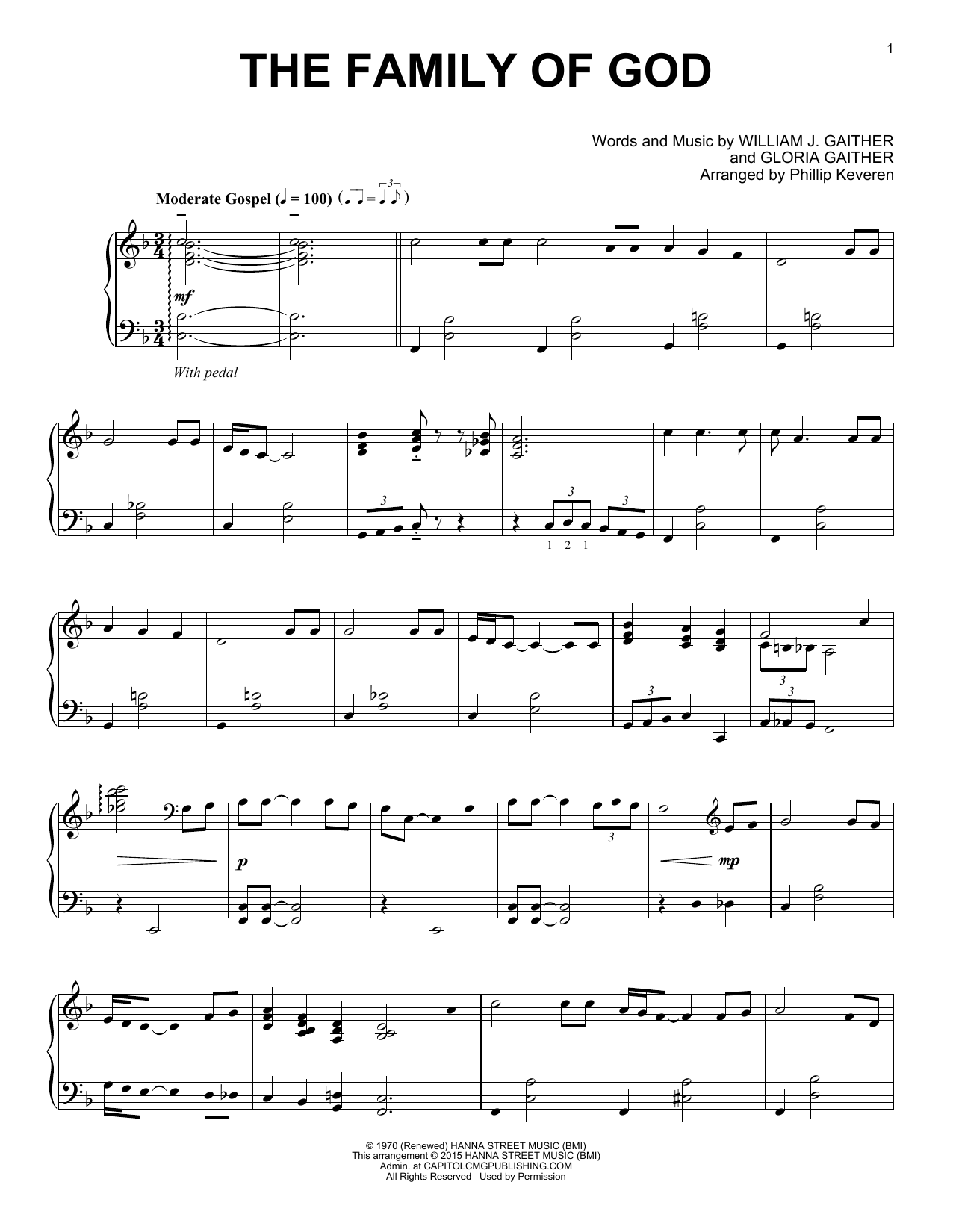 Gaither Vocal Band The Family Of God sheet music notes and chords