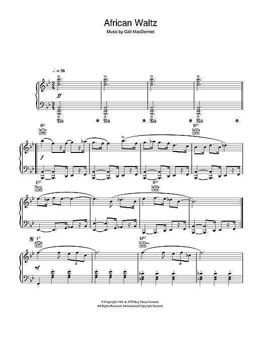 Galt MacDermot African Waltz sheet music notes and chords
