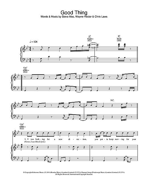 Gareth Gates Good Thing sheet music notes and chords. Download Printable PDF.