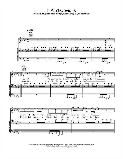 Gareth Gates It Ain't Obvious sheet music notes and chords. Download Printable PDF.