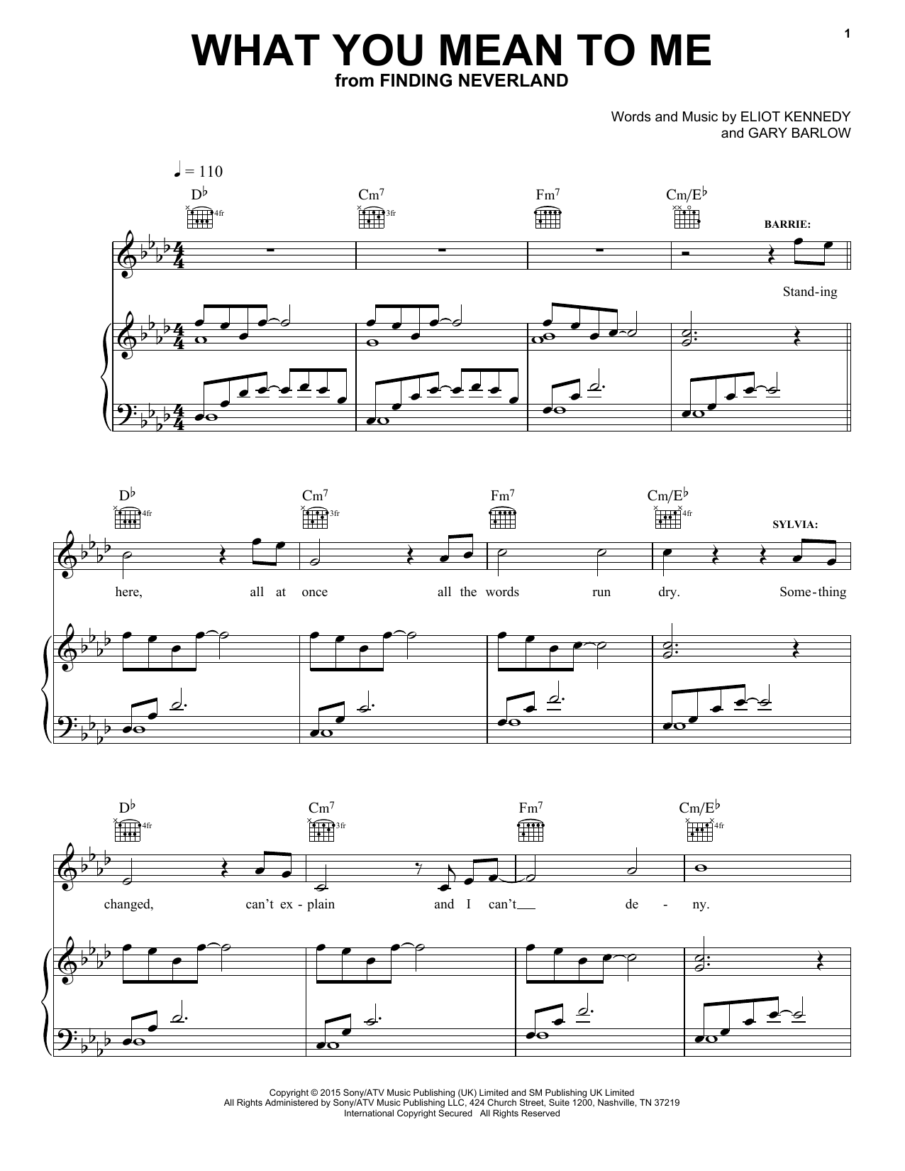 Gary Barlow & Eliot Kennedy What You Mean To Me sheet music notes and chords. Download Printable PDF.