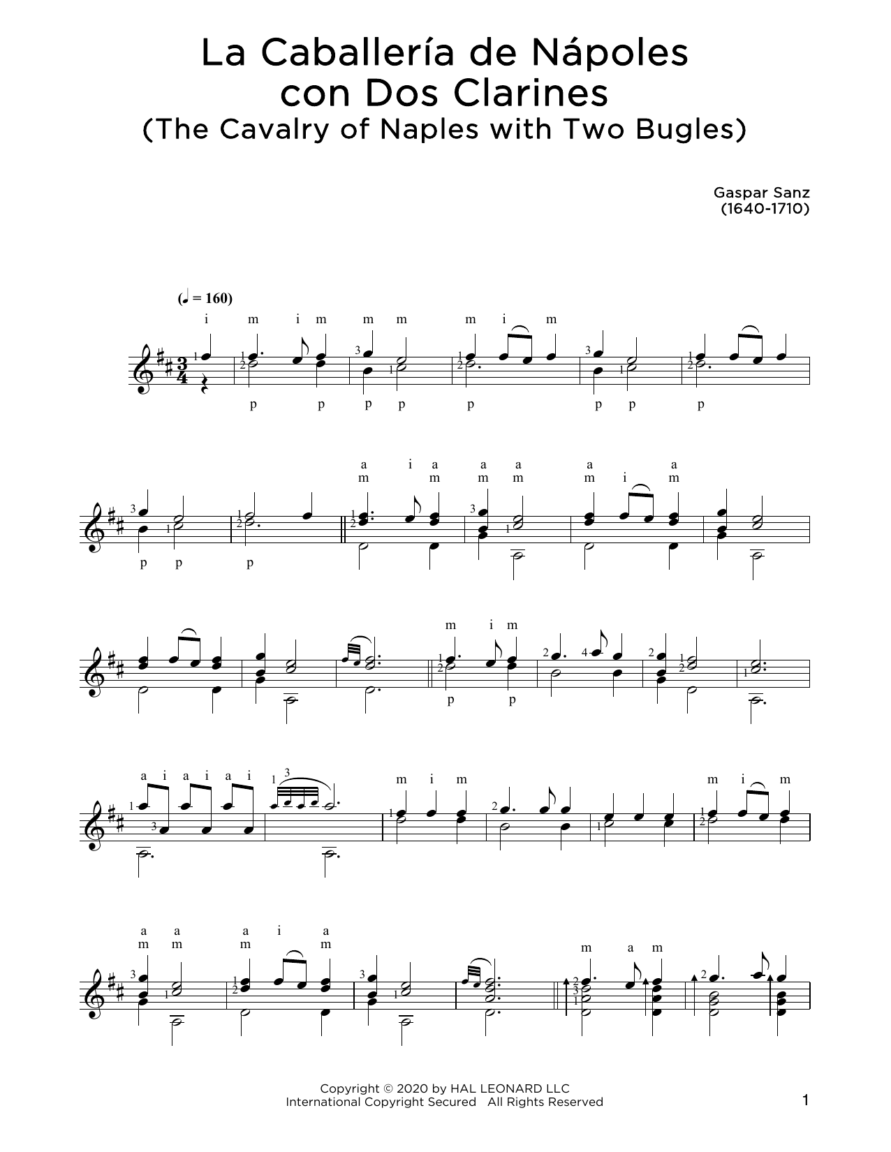 Gaspar Sanz La Caballeria de Napoles con Don Clarines sheet music notes and chords. Download Printable PDF.