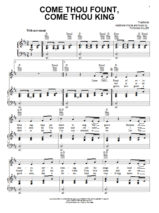 Gateway Worship Come Thou Fount, Come Thou King sheet music notes and chords. Download Printable PDF.