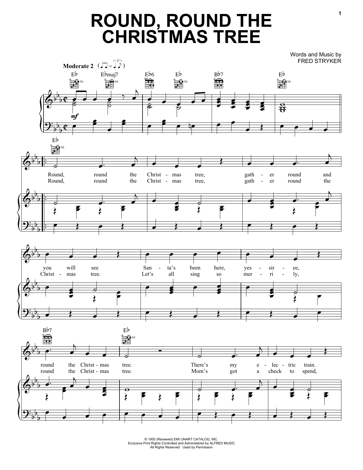 Gene Autry Round, Round The Christmas Tree sheet music notes and chords. Download Printable PDF.