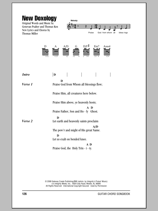 Genevan Psalter New Doxology sheet music notes and chords. Download Printable PDF.