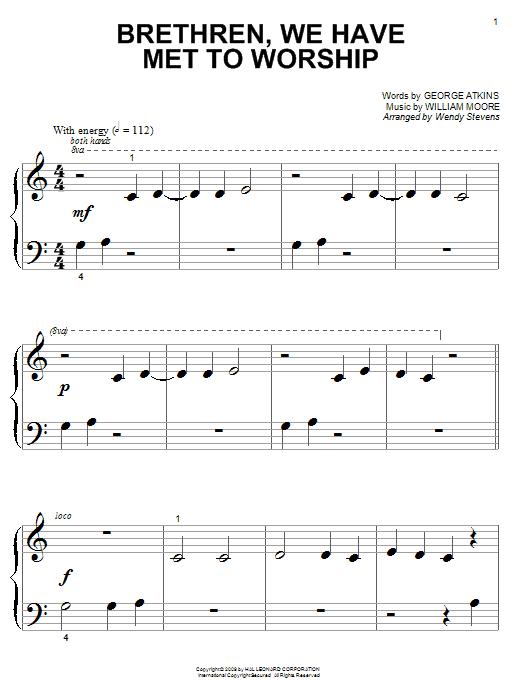 George Atkins Brethren, We Have Met To Worship sheet music notes and chords. Download Printable PDF.