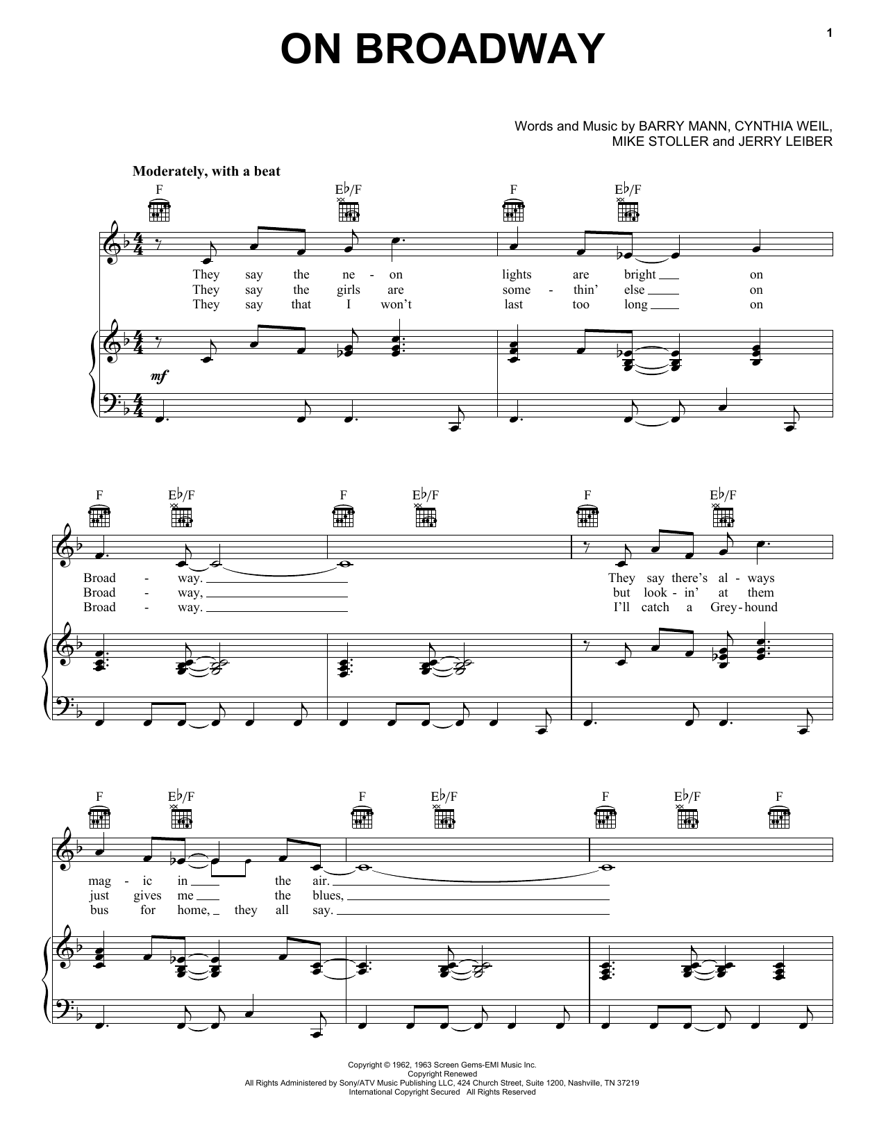George Benson On Broadway sheet music notes and chords. Download Printable PDF.