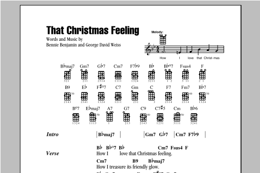 George David Weiss That Christmas Feeling sheet music notes and chords. Download Printable PDF.