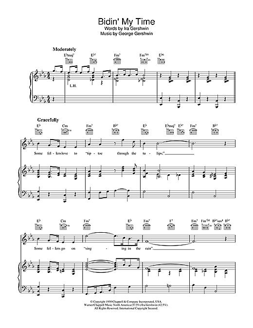 George Gershwin Bidin' My Time sheet music notes and chords. Download Printable PDF.