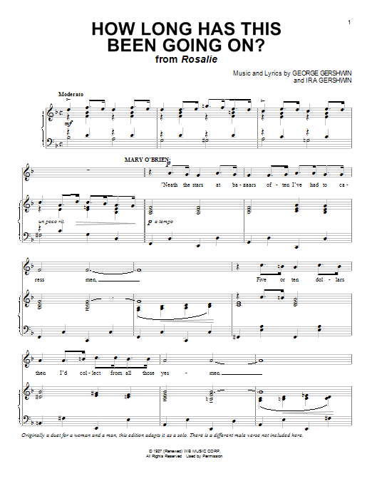 George Gershwin How Long Has This Been Going On? sheet music notes and chords. Download Printable PDF.