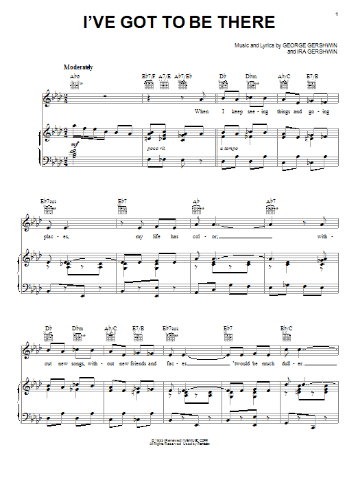 George Gershwin I've Got To Be There sheet music notes and chords. Download Printable PDF.