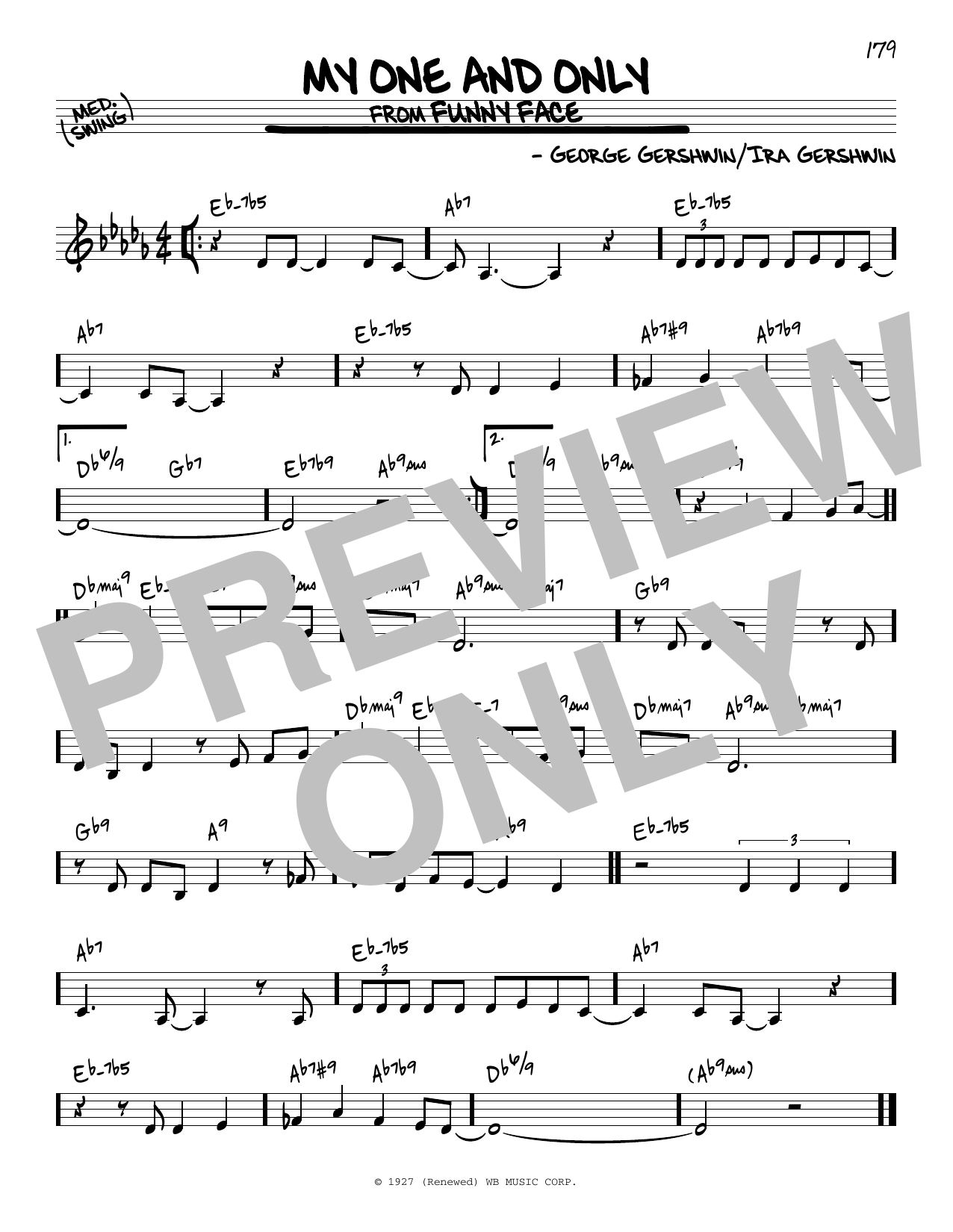 George Gershwin My One And Only sheet music notes and chords. Download Printable PDF.
