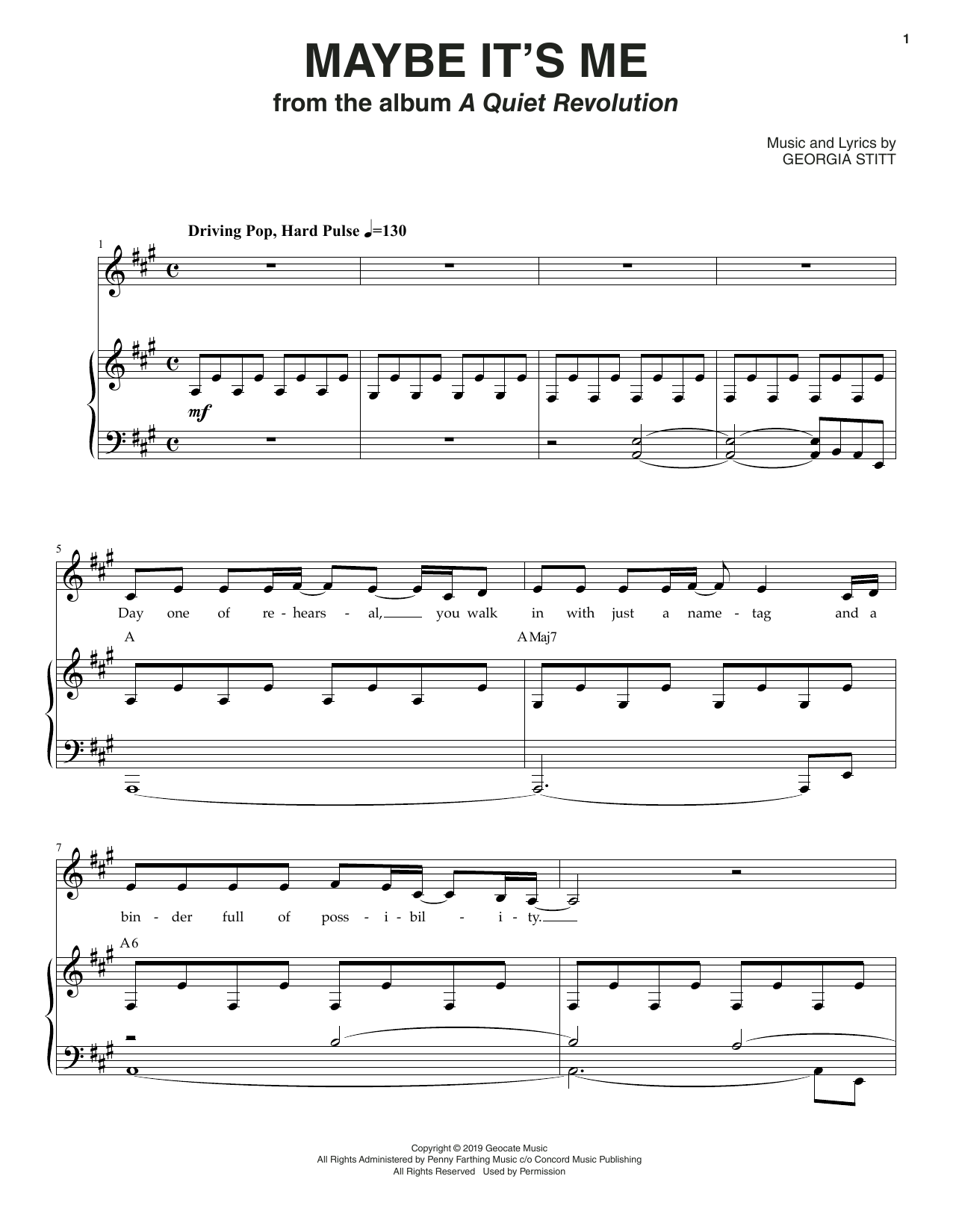 Georgia Stitt Maybe It's Me sheet music notes and chords. Download Printable PDF.