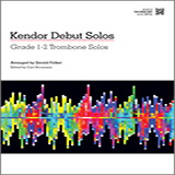 Download Gerald Felker 'Kendor Debut Solos - Trombone' Printable PDF 16-page score for Instructional / arranged Brass Solo SKU: 124999.