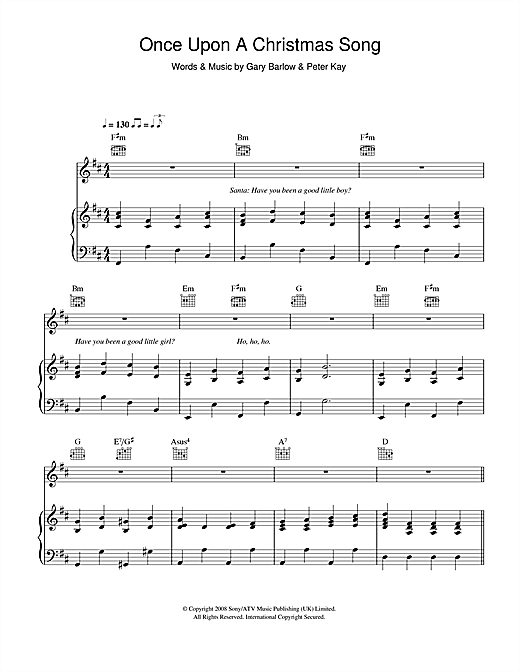 Geraldine McQueen Once Upon A Christmas Song sheet music notes and chords. Download Printable PDF.