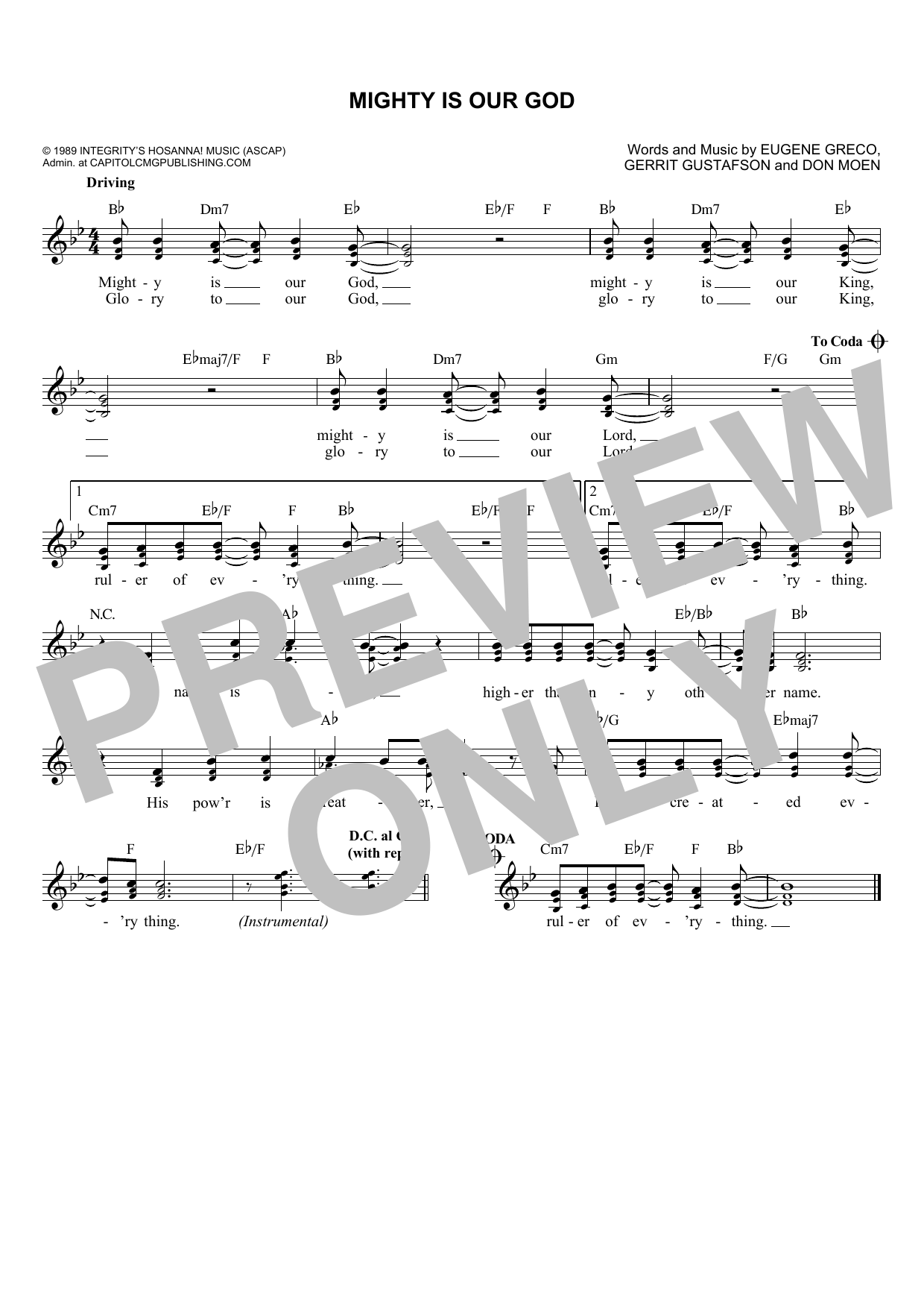 Gerrit Gustafson Mighty Is Our God sheet music notes and chords. Download Printable PDF.