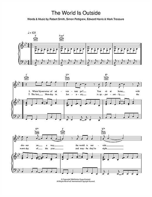 Ghosts The World Is Outside sheet music notes and chords. Download Printable PDF.