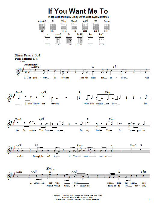 Ginny Owens If You Want Me To sheet music notes and chords. Download Printable PDF.