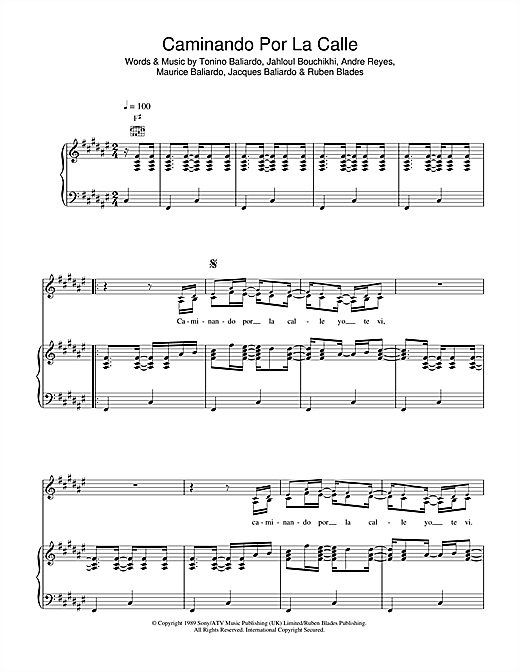 Gipsy Kings Caminando Por La Calle sheet music notes and chords. Download Printable PDF.