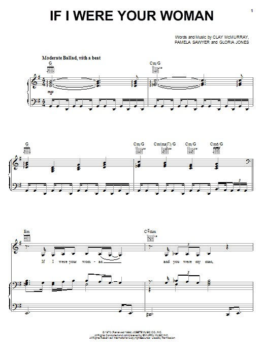 Gladys Knight & The Pips If I Were Your Woman sheet music notes and chords. Download Printable PDF.
