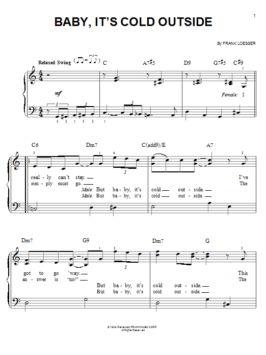 Glee Cast Baby, It's Cold Outside sheet music notes and chords
