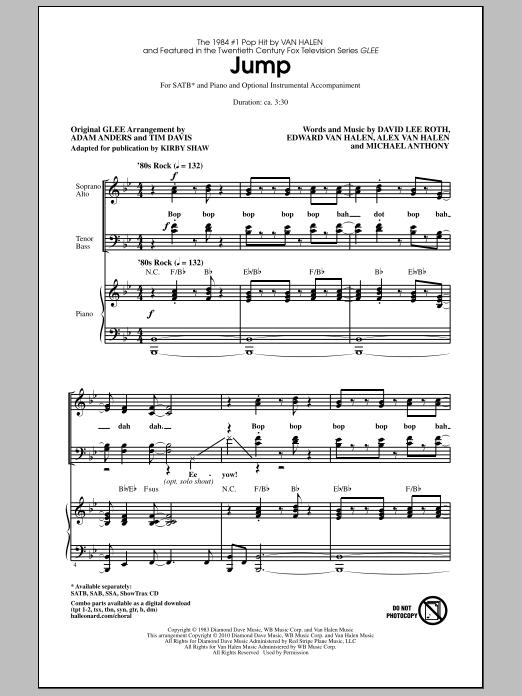 Kirby Shaw Jump Sheet Music Pdf Notes Chords Film Tv Score Satb Choir Download Printable Sku 287401