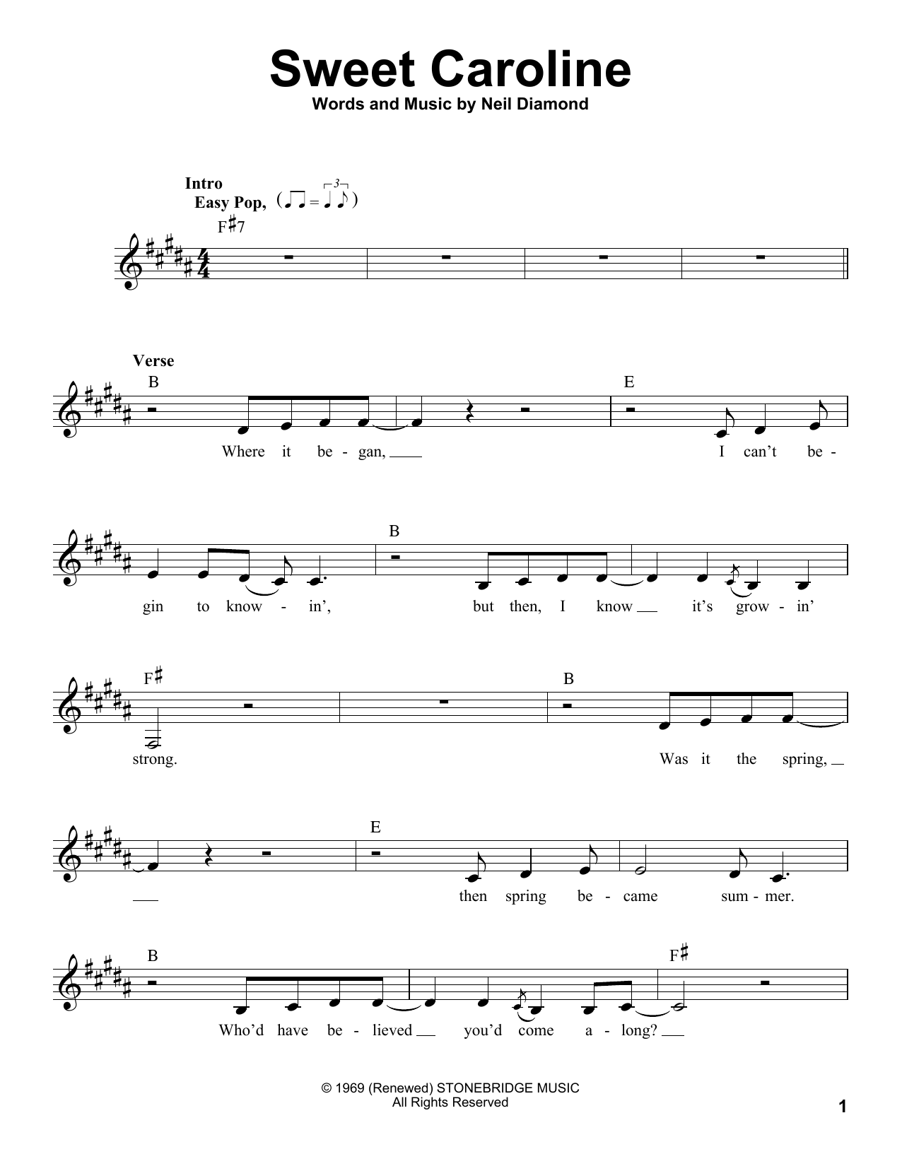 Glee Cast Sweet Caroline Feat Mark Salling Sheet Music Pdf Notes Chords Pop Score Pro Vocal Download Printable Sku 195937