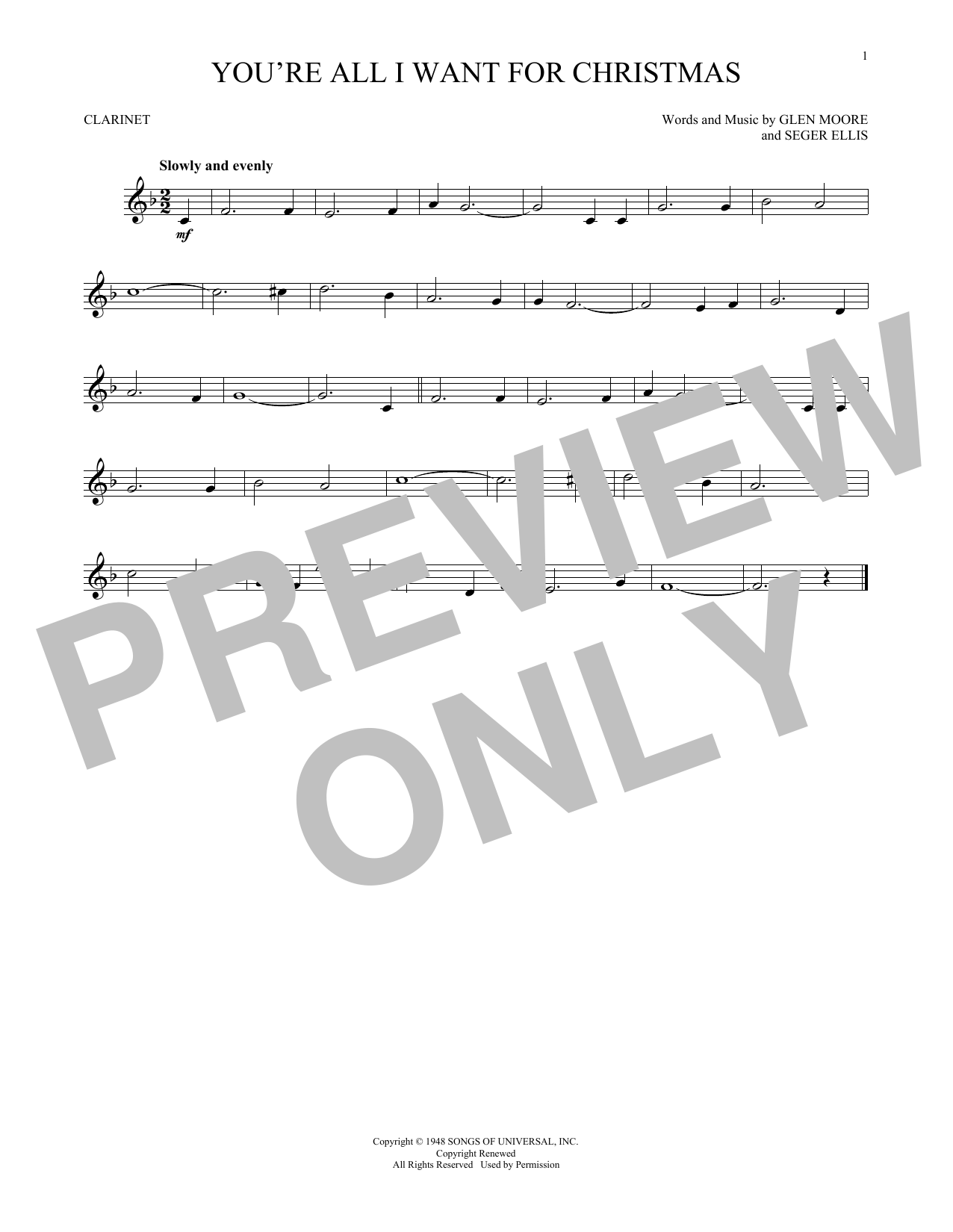 All I Want For Christmas Is You Sheet Music Pdf.Glen Moore Seger Ellis You Re All I Want For Christmas Sheet Music Notes Chords Download Printable Violin Solo Sku 166850