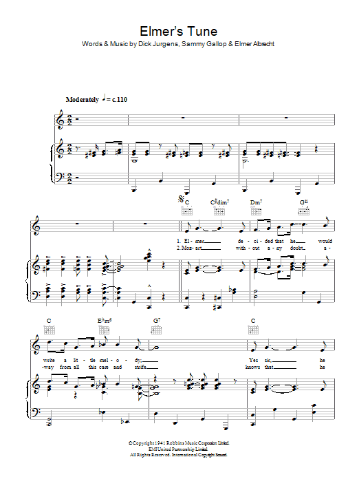 The Glenn Miller Orchestra Elmer's Tune sheet music notes and chords. Download Printable PDF.