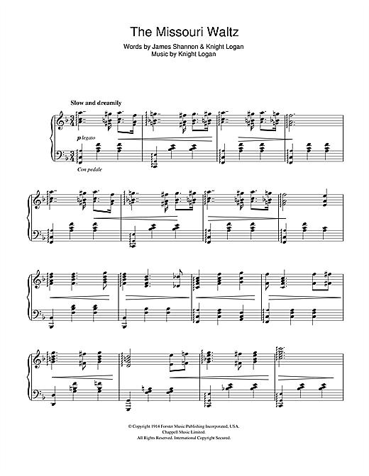 Glenn Miller The Missouri Waltz sheet music notes and chords. Download Printable PDF.