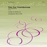 Download or print Glenn Smith Trio For Trombones (Abschiedsgesang) - 2nd Trombone Sheet Music Printable PDF 1-page score for Classical / arranged Brass Ensemble SKU: 380404.