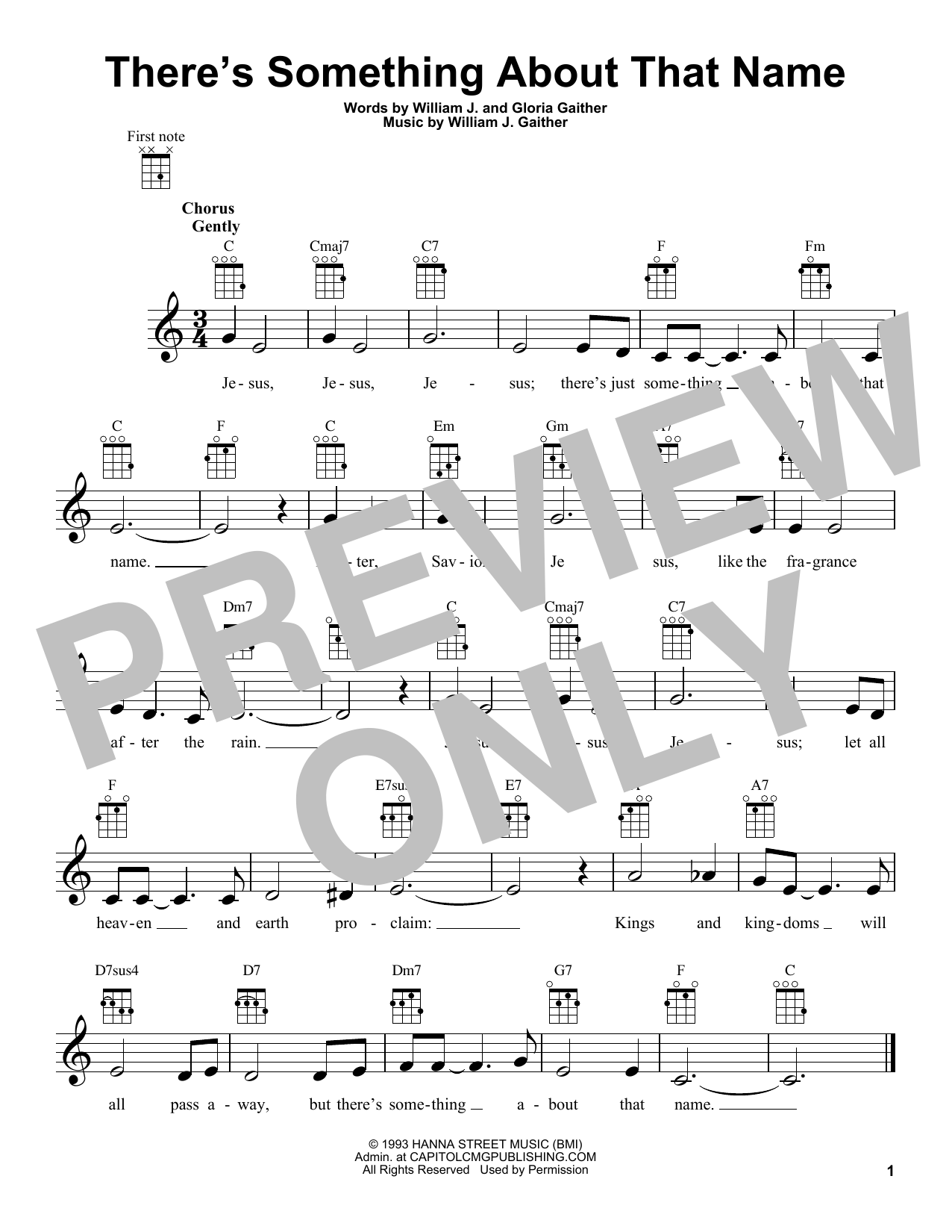 Gloria Gaither There's Something About That Name sheet music notes and chords. Download Printable PDF.