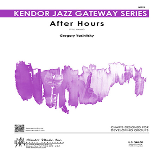 Easily Download Gregory Yasinitsky Printable PDF piano music notes, guitar tabs for Jazz Ensemble. Transpose or transcribe this score in no time - Learn how to play song progression.