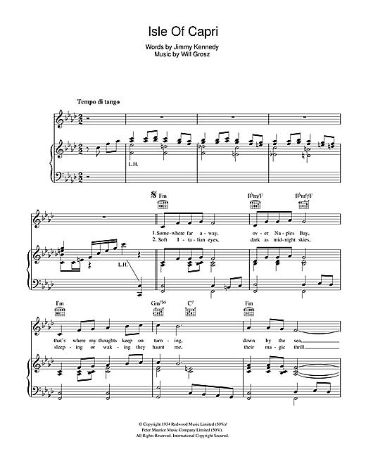 Greta Keller Isle Of Capri sheet music notes and chords. Download Printable PDF.