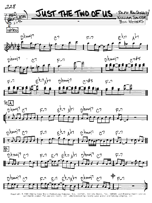 Grover Washington Jr. Just The Two Of Us sheet music notes and chords. Download Printable PDF.