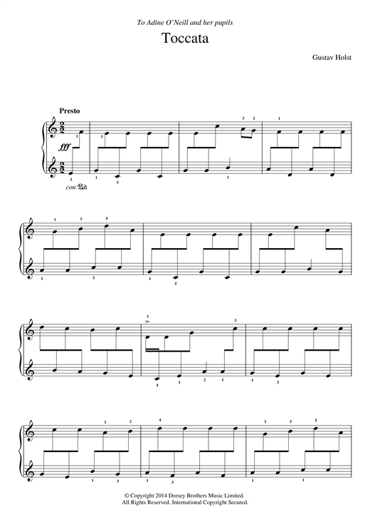 Gustav Holst Toccata On A Northumbrian Tune sheet music notes and chords. Download Printable PDF.