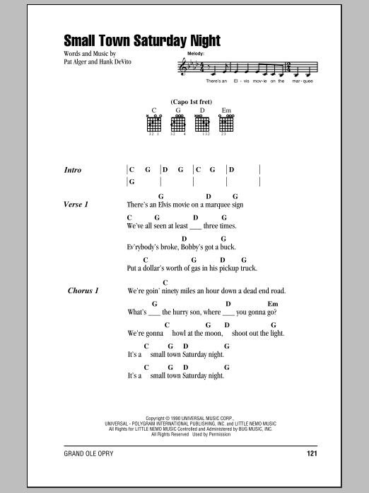 hal ketchum small town saturday night sheet music pdf notes chords pop score guitar chords lyrics download printable sku 80118 hal ketchum small town saturday night sheet music notes chords download printable guitar chords lyrics sku 80118