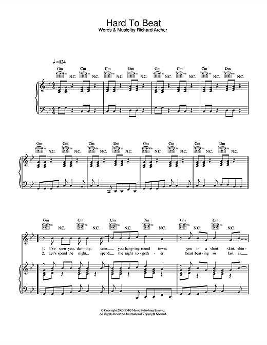 Hard-Fi Hard To Beat sheet music notes and chords. Download Printable PDF.