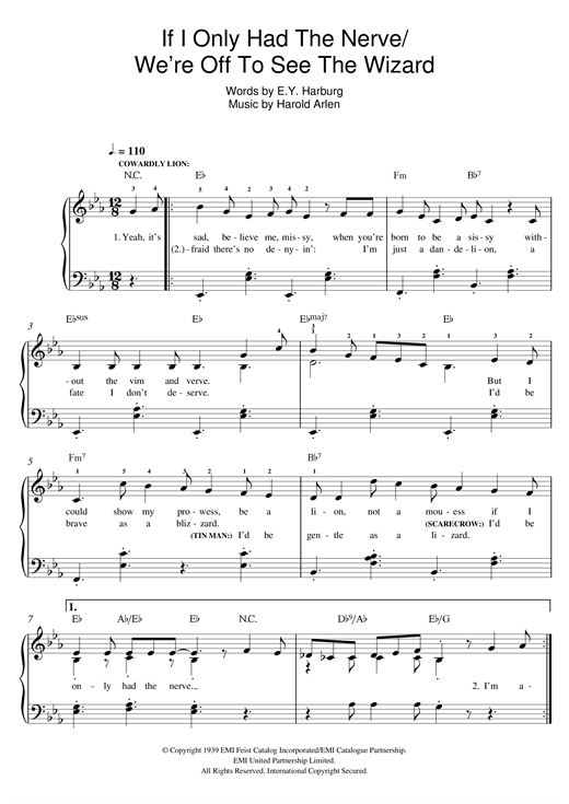 Harold Arlen If I Only Had The Nerve sheet music notes and chords. Download Printable PDF.