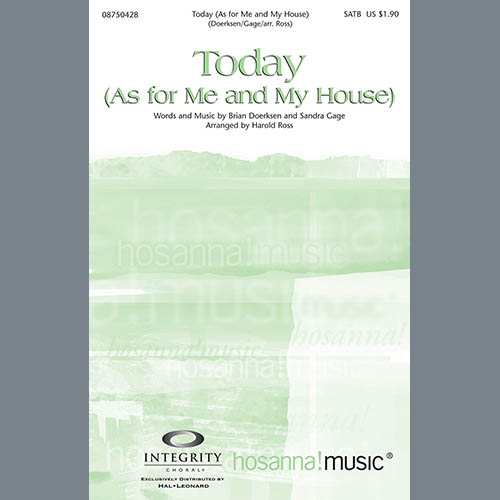 Harold Ross, Today (As For Me And My House) - Trombone 3/Tuba, Choir Instrumental Pak