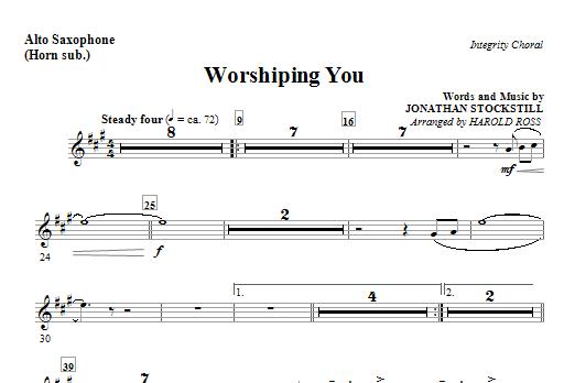 Harold Ross Worshiping You - Alto Sax (Horn sub.) sheet music notes and chords. Download Printable PDF.