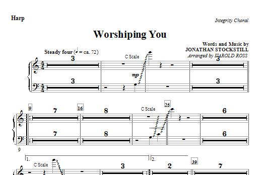 Harold Ross Worshiping You - Harp sheet music notes and chords. Download Printable PDF.