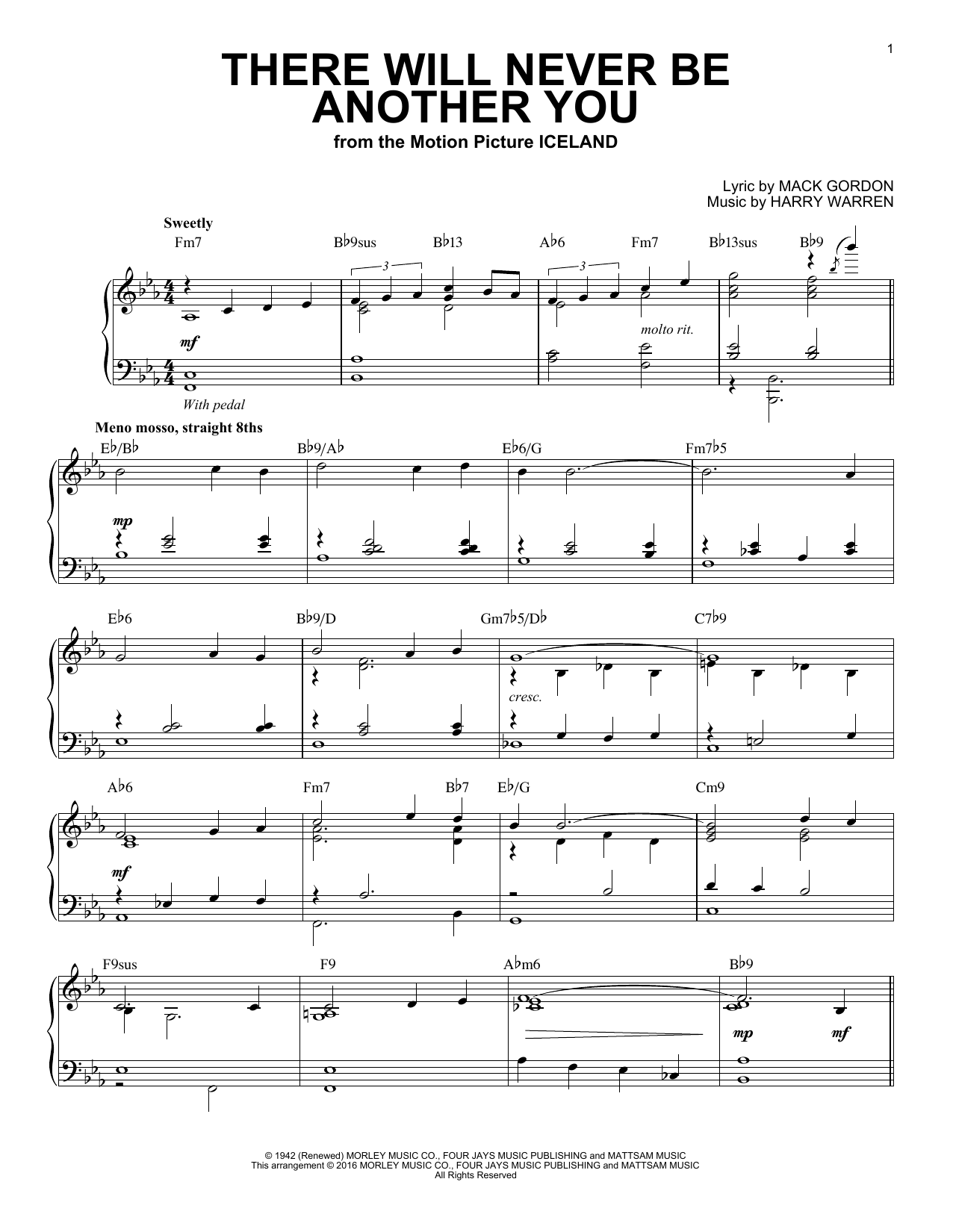 Harry Warren There Will Never Be Another You (arr. Brent Edstrom) sheet music notes and chords. Download Printable PDF.