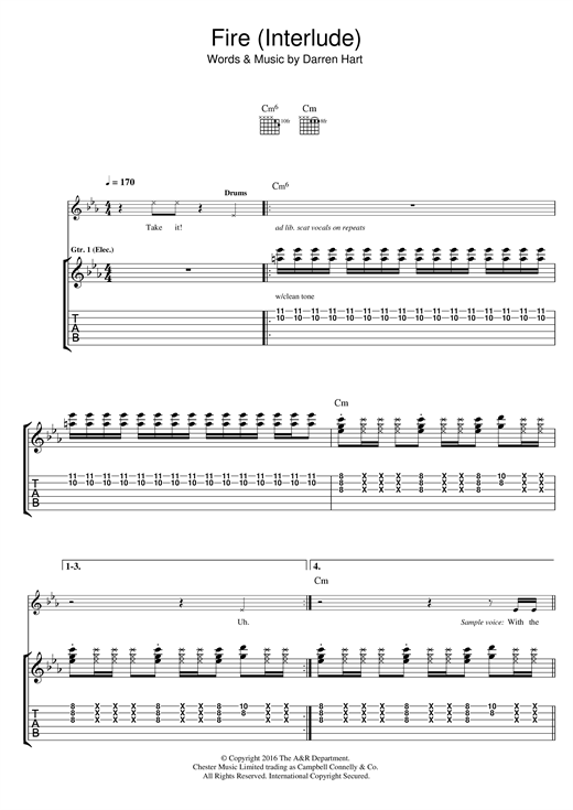 Harts Fire sheet music notes and chords. Download Printable PDF.