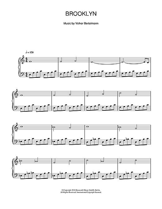 Hauschka Brooklyn sheet music notes and chords