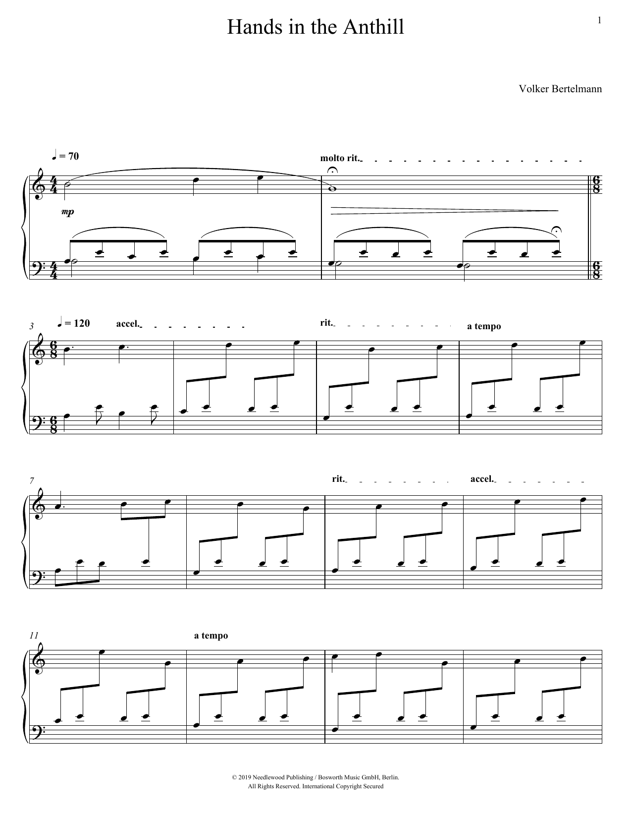 Hauschka Hands In The Anthill sheet music notes and chords. Download Printable PDF.