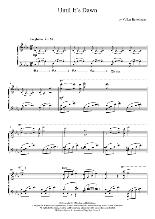 Hauschka Until It's Dawn sheet music notes and chords. Download Printable PDF.