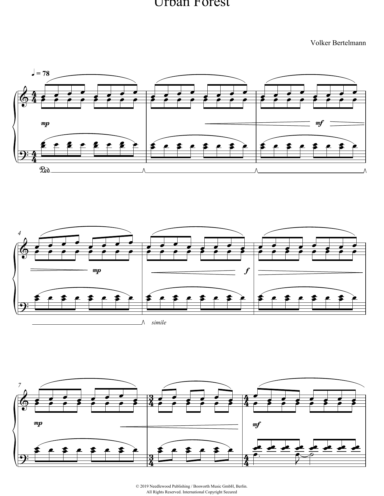 Hauschka Urban Forest sheet music notes and chords. Download Printable PDF.