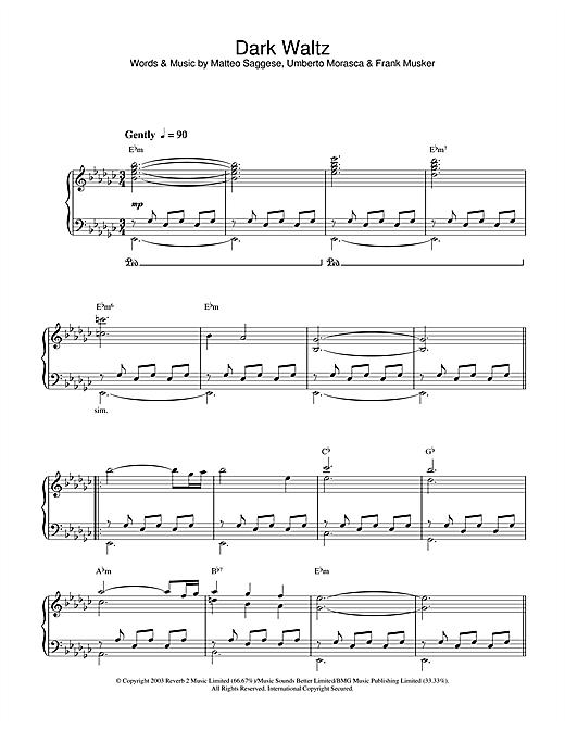 Hayley Westenra Dark Waltz sheet music notes and chords